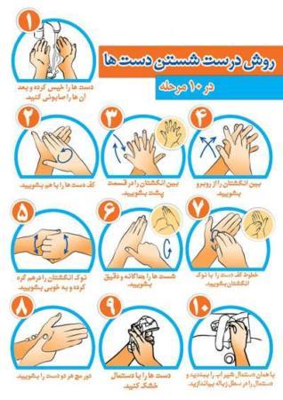 image, آموزش تصویری نحوه تمیز شستن دست ها