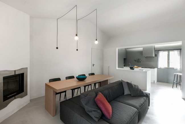image ایده جالب ترکیب مبل راحتی با میز غذاخوری برای خانه های شیک و کوچک