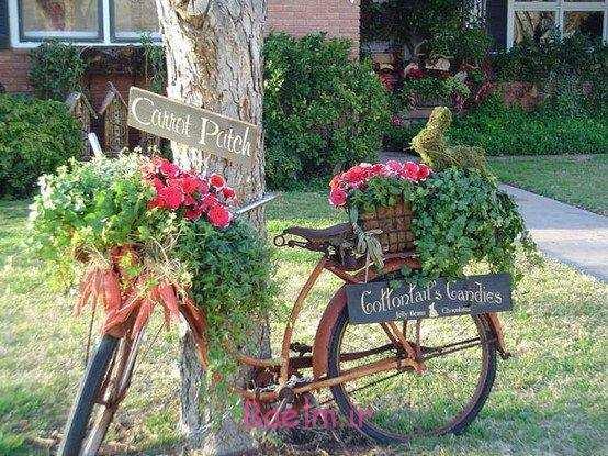 image, ایده های دیدنی از ساخت وسایل زیبا با دوچرخه های قدیمی