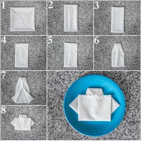 image, آموزش مدل های شیک تا کردن دستمال سفره مهمانی رسمی با عکس