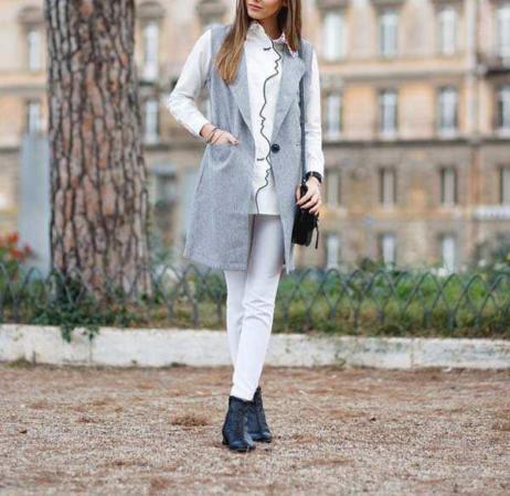 image, معرفی ترکیب رنگ خاکستری برای خانم ها هنگام لباس پوشیدن