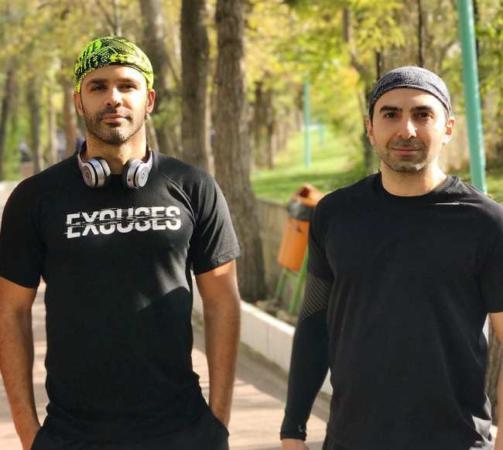 image عکس جدید سیروان خسروی موقع ورزش در پارک