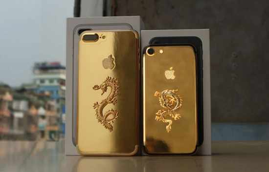image عکس های دیدنی گوشی آیفون ۷ ساخته شده با روکش طلا