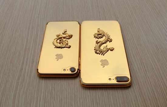 image, عکس های دیدنی گوشی آیفون ۷ ساخته شده با روکش طلا