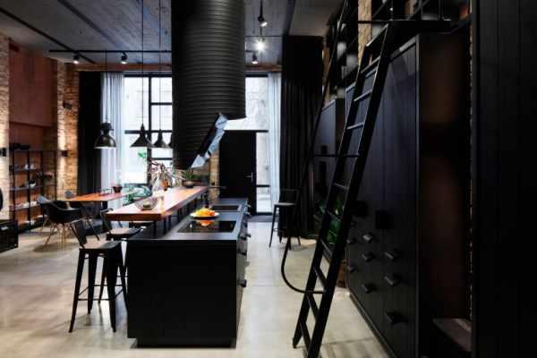 image, دکوراسیون خانه شیک رنگ سیاه و قهوه ای با عکس های دیدنی