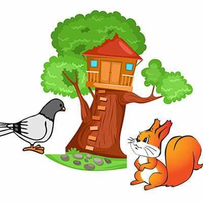 image قصه بچگانه دوستی خاله سنجاب و درخت بزرگ