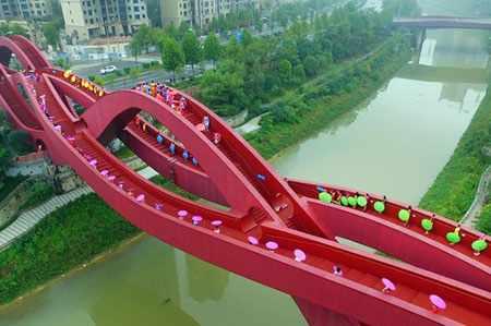 image, طراحی زیبای پل عابر پیاده در شهر چانگشا چین