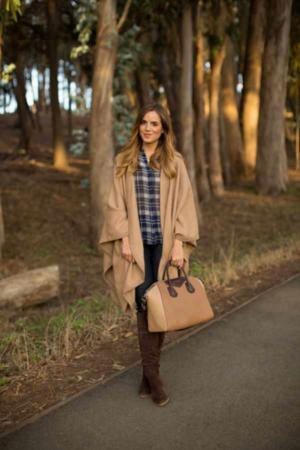 image, عکس لباس های زیبای پاییزی با ترکیب رنگ قهوه ای برای خانم ها