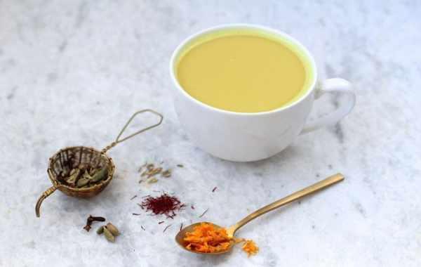 image, طرز تهیه چای زعفرانی و خواص آن