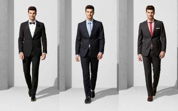image چه مدل و رنگ پیراهن مردانه برای کت و شلوار مشکی مناسب است