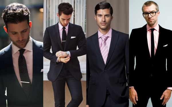 image, چه مدل و رنگ پیراهن مردانه برای کت و شلوار مشکی مناسب است