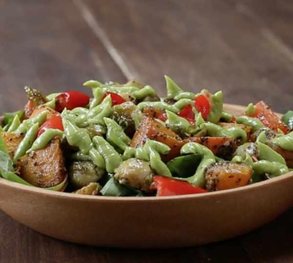 image, آموزش تهیه سالاد گرم با سبزیجات