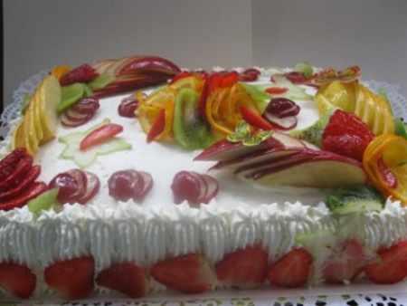 image, ایده های زیبا و دیدنی تزیین کیک با میوه های مختلف