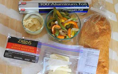 image, طرز تهیه ساندویچ فوری برای رفتن به پیک نیک و گردش