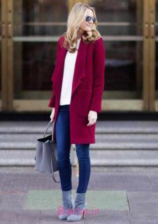 image مدل لباس های شیک زنانه ست رنگ طوسی