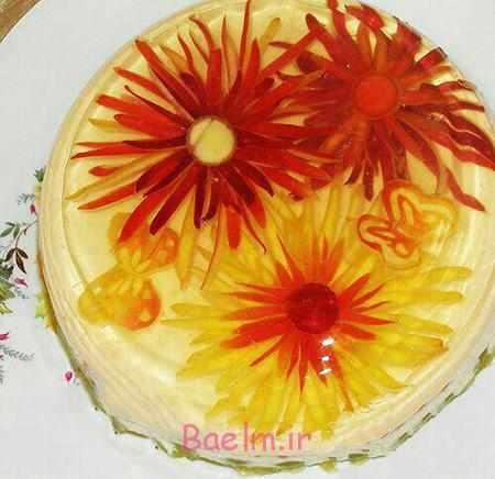 image, آموزش عکس به عکس تزیین ژله آلوئه ورا گل
