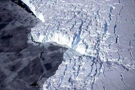 image, عکس هوایی توسط ناسا از آب شدن یخ های قطب جنوب
