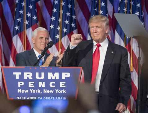 image عکس های دیدنی از شادی و ناراحتی مردم امریکا بعد از انتخاب ترامپ