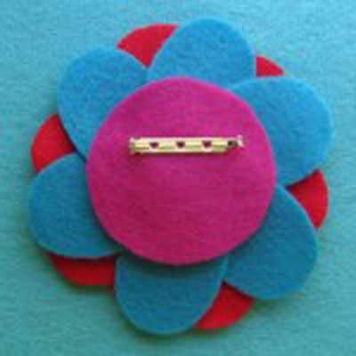 image, آموزش ساخت سنجاق سینه زیبای گل با فوتر