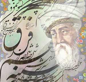 image, شعر زیبای هر که را توفیق حق آمد دلیل شاعر شیخ بهایی