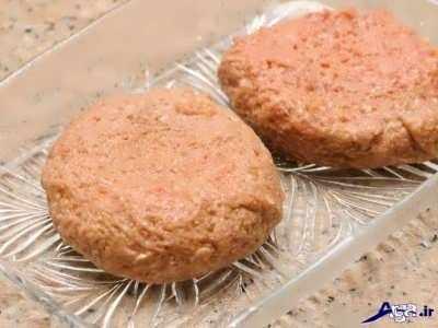 image, طرز تهیه همبرگر سالم و خانگی با مرغ
