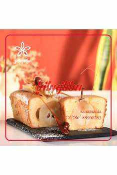 image طرز پخت کیک گلابی با بادام مخصوص