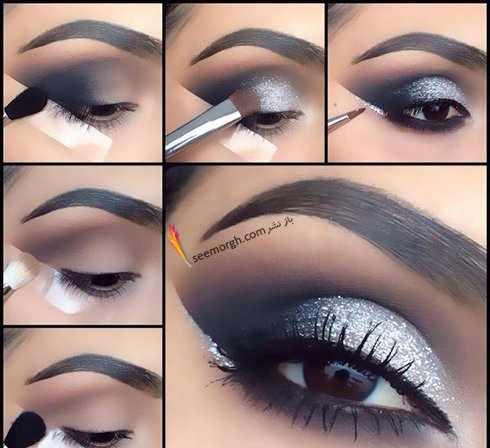 image آموزش تصویری پنج مدل شیک آرایش چشم برای خانم ها