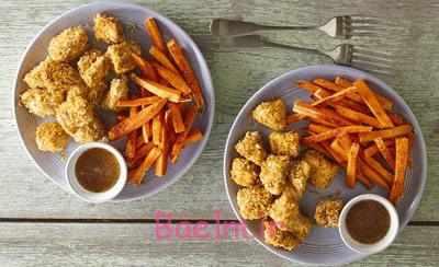 image آموزش درست کردن غذای مناسب بچه ها مرغ پاپ کورن