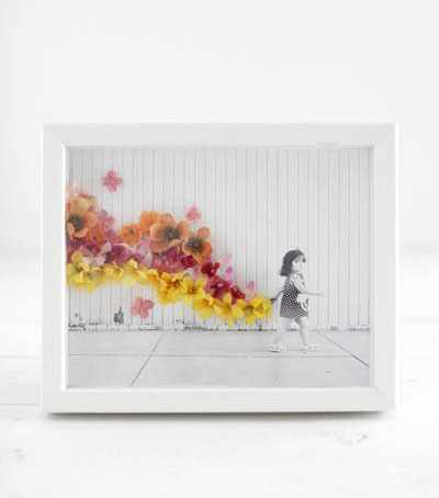 image, آموزش تزیین عکس چاپی با گل های مصنوعی پلاستیکی