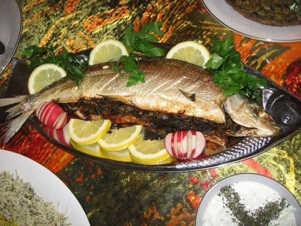 image آموزش نحوه پخت ماهی شکم مجلسی