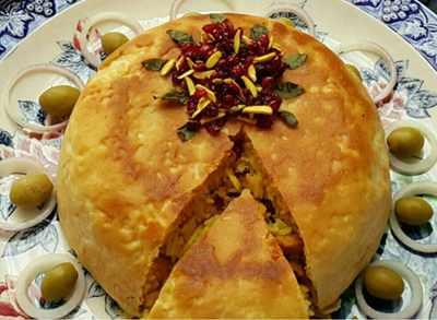 image طرز پخت غذای خوشمزه بردبلاو با ادویه های مخصوص