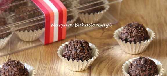 image آموزش تهیه عصرانه برای بچه ها ترافل شکلاتی