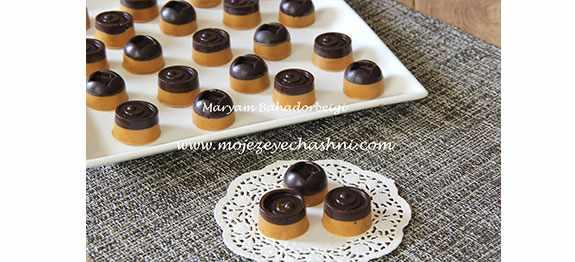 image طرز تهیه خورکی مورد علاقه بچه ها برشتوک نخودچی شکلاتی