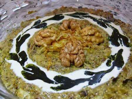 image ایده های جدید و زیبای تزیین کشک بادمجان برای مهمانی