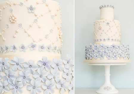 image مدل های جدید بری سفارش کیک عروسی شیک با رنگ سفید