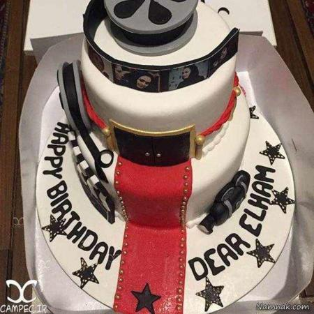 image عکس کیک جشن تولد الهام حمیدی هنرمند محبوب