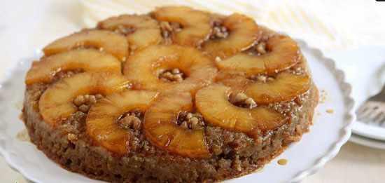 image آموزش پخت کیک خانگی آناناس و کدو