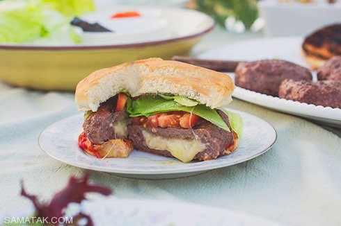 image آموزش تهیه همبرگر شکم پر خانگی و مقوی