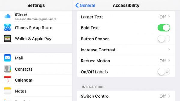 image چطور اندازه فونت را در گوشی های ایفون تغییر دهیم