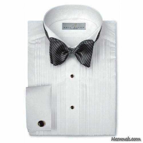عکس, راهنمای تصویری انتخاب پیراهن مردانه با یقه متناسب با فرم صورت