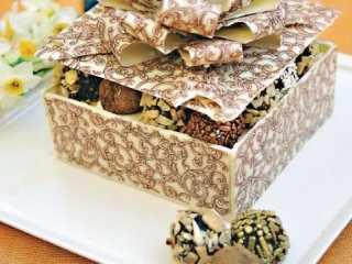image آموزش ساخت جعبه محکم و قابل خوردن از شکلاتی