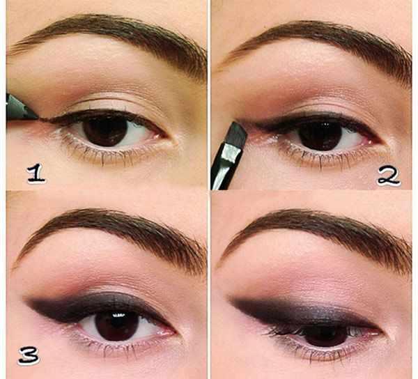 image آموزش تصویری خط چشم کشیدن برای چشم های گرد