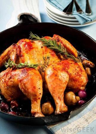 image, روش درست برای پختن مرغ زعفرانی