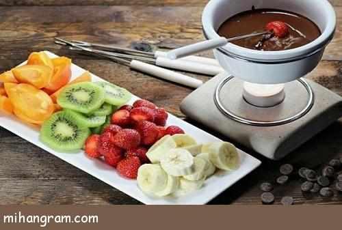 image طرز درست کردن فوندوی شکلاتی برای میز مهمانی