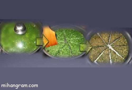 image آموزش تصویری پخت کوکو سبزی مخصوص