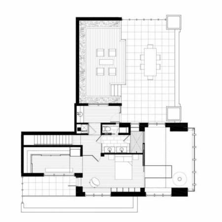 image دکوراسیون مدرن و دیدنی خانه بزرگ با نقشه طراحی