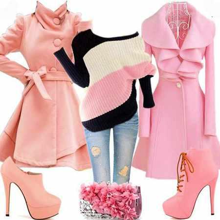 image مدل های شیک ست کردن لباس های زنانه با رنگ های مختلف