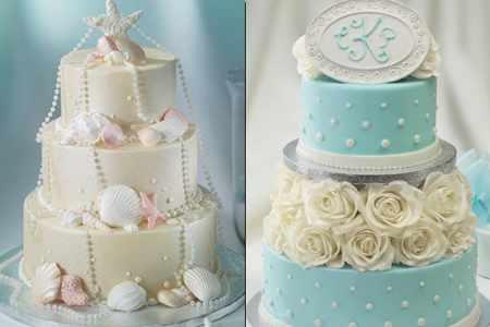image مدل های جدید و زیبای کیک های عروسی با رنگ آبی سفید