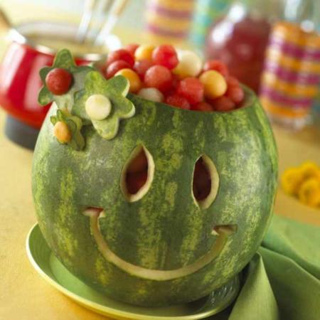 image, آموزش ساخت صورتک خندان با هندوانه برای شب یلدا