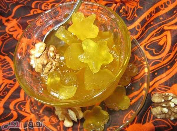 image آموزش پخت مربای ستاره ای با پوست هندوانه
